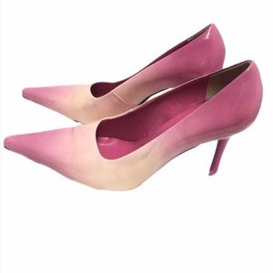 Andrew Stevens Pink leather pointed toe shoes 7.5